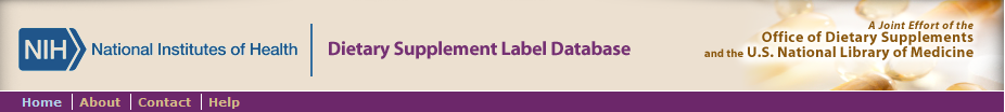 Dietary Supplment Label Database