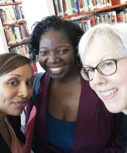 Brandi-Hunter Davenport, PaLA PA Forward Project Manager, Lydia N. Collins, NNLM MAR Consumer Health Coordinator, and Bronwen Gamble, Executive Library Director at Reading Public Library