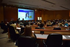 view of a presentation from the audience at the symposium