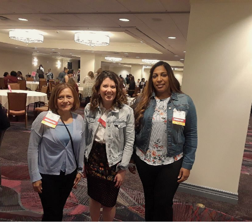 Health Professions Coordinator, Erin Seger with Lehigh Valley, PA CHWs, Gloria Rivera and Yendira Rosario at the Unity CHW Conference