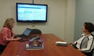 Epstein/Barger on a virtual meeting, photo
