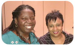 Lydia Collins and Carla Hayden, 14th Librarian of Congress