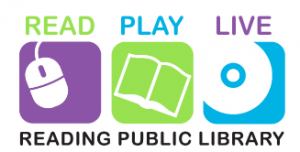 Read, Play, Live: Reading Public Library logo