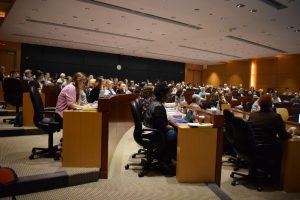 view of the audience at the symposium