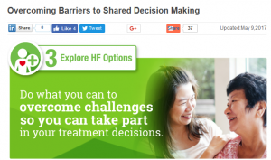 Overcoming Barriers to Shared Decision Making: Do what you can to overcome challenges so you can take part in your treatment decisions