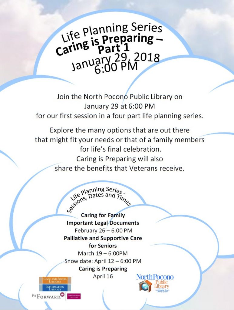 Flyer for the Life Planning Series