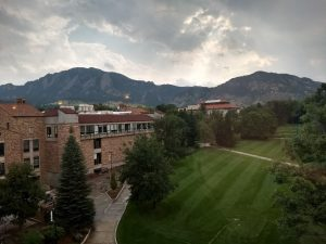 View of the University of Colorado, Boulder campus