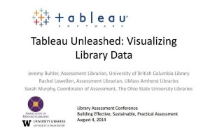 Cover slide for Tableau Unleashed