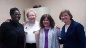 The Engage for Health project team from left to right: Lydia Collins, Kathy Silks, Susan Jeffery, Cindy Olney