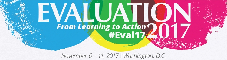 Official banner for AEA's Evaluation 2017 conference.