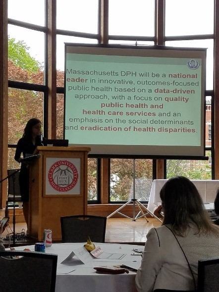 Monica Bharel, MD DPH Commissioner, MA Department of Public Health gives the Afternoon Keynote.