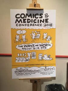 Comics and Medicine Conference 2018 poster.