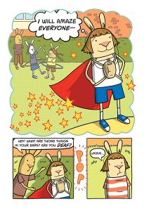 A page from the kids' graphic medicine book El Deafo by Cece Bell.