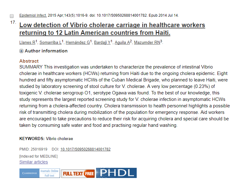 EAI and PHDL icons in PubMed citation