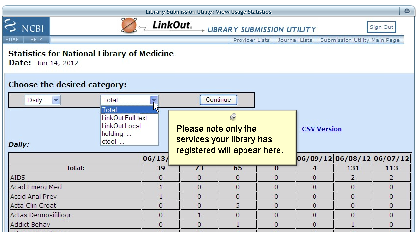 LinkOut Library Services