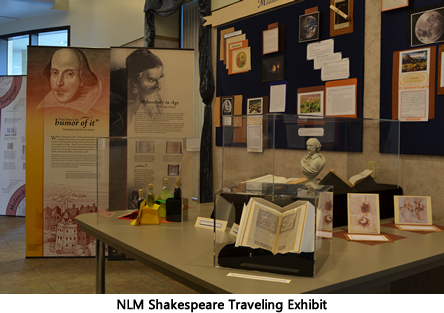 Display of the Shakespeare Exhibit in Pumerantz Library