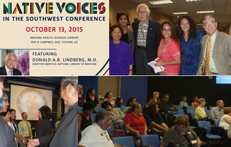 Collage of attendees at the Native Voices in the Southwest Conference