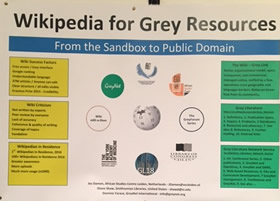 poster presentation of wiki grey resources
