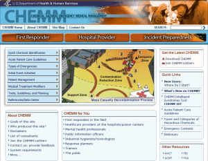 Chemical Hazards Emergency Medical Management (CHEMM