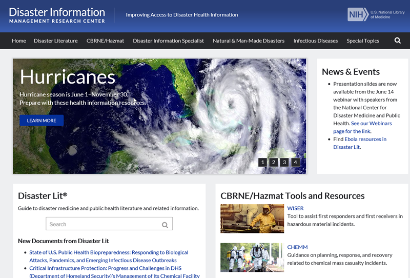 Disaster Information Management Research Center website