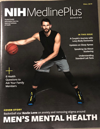 basketball player on a cover of NIH MedlinePlus magazine