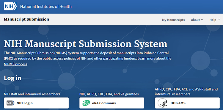 NIH Manuscript Submission System Homepage