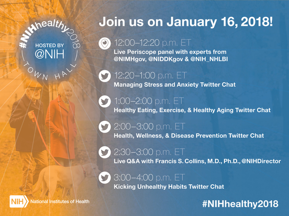 NIH Healthy 2018 Schedule