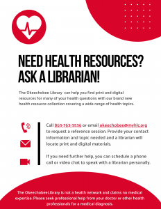 Flier for Virtual Health Reference Services