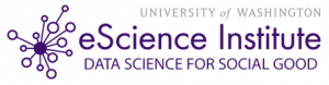 University of Washington eScience Institute Data Science for Social Good logo