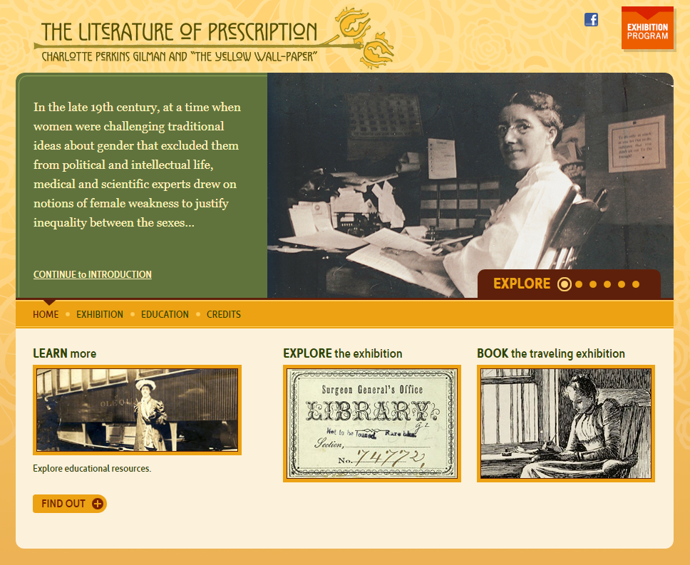 Literature of Prescription NLM exhibit