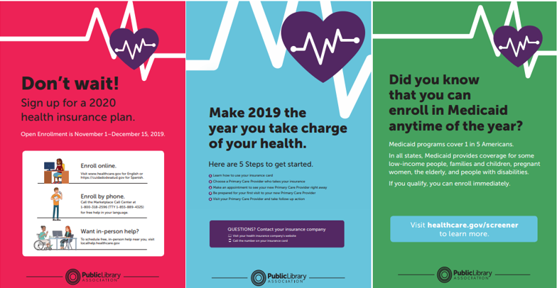 health insurance PLA posters