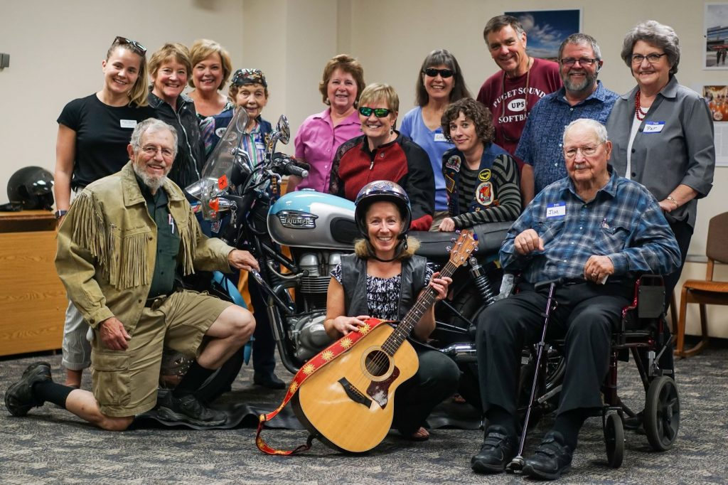 Participants of the Missoula Public Library Memory Cafe